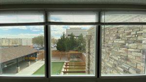 The 609 studio apartment view